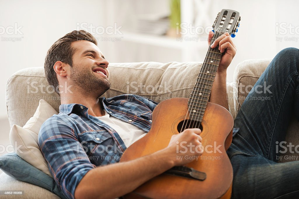 Music is my life. stock photo