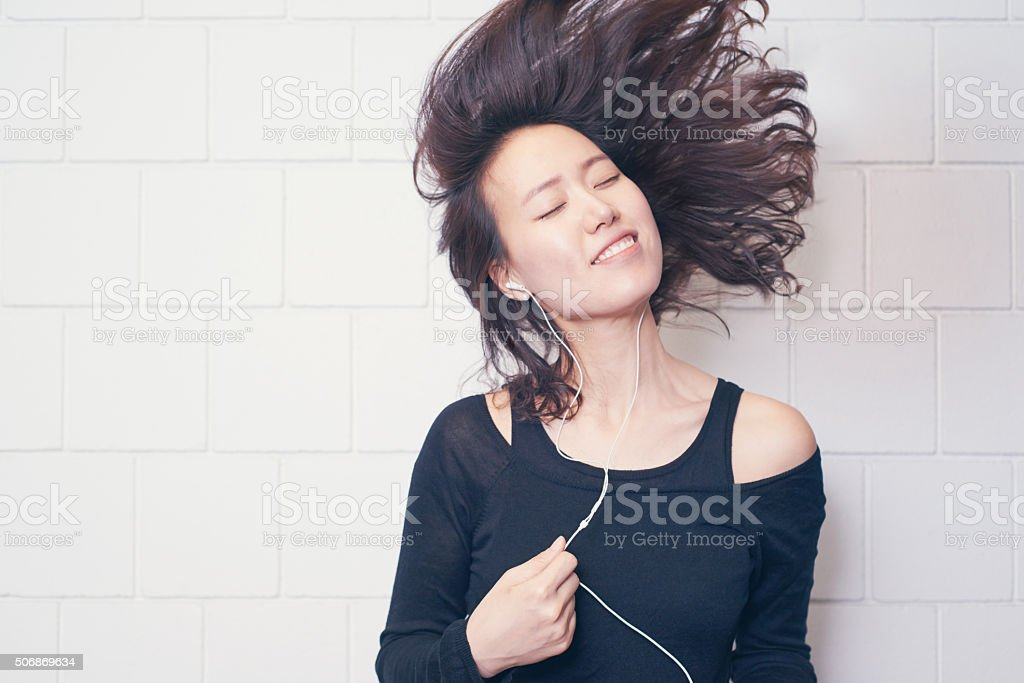 Music is not to hear it is to feel stock photo