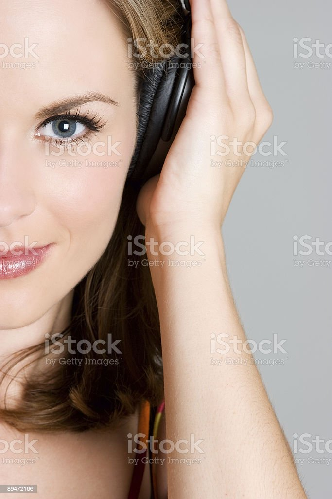 Music lady royalty-free stock photo