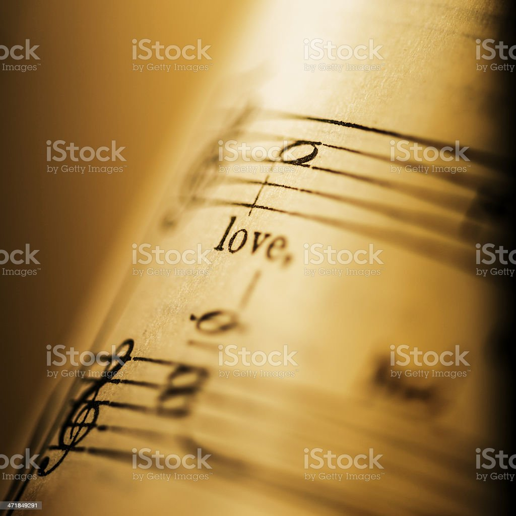 Music: love song royalty-free stock photo