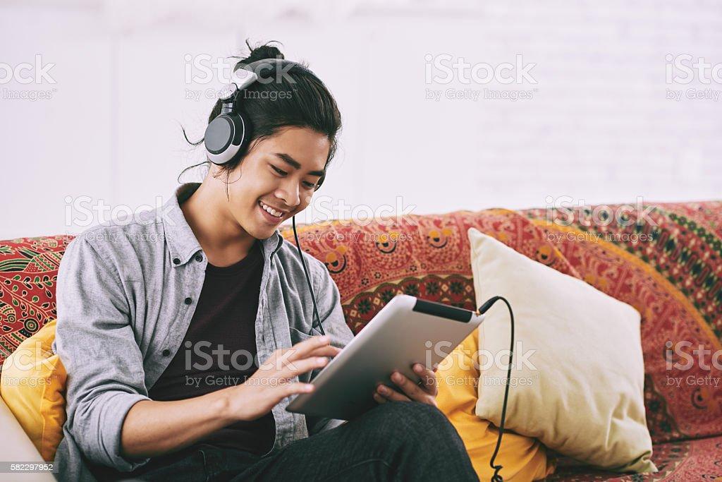 Music lover stock photo