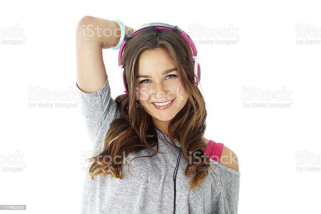 Music makes me smile royalty-free stock photo