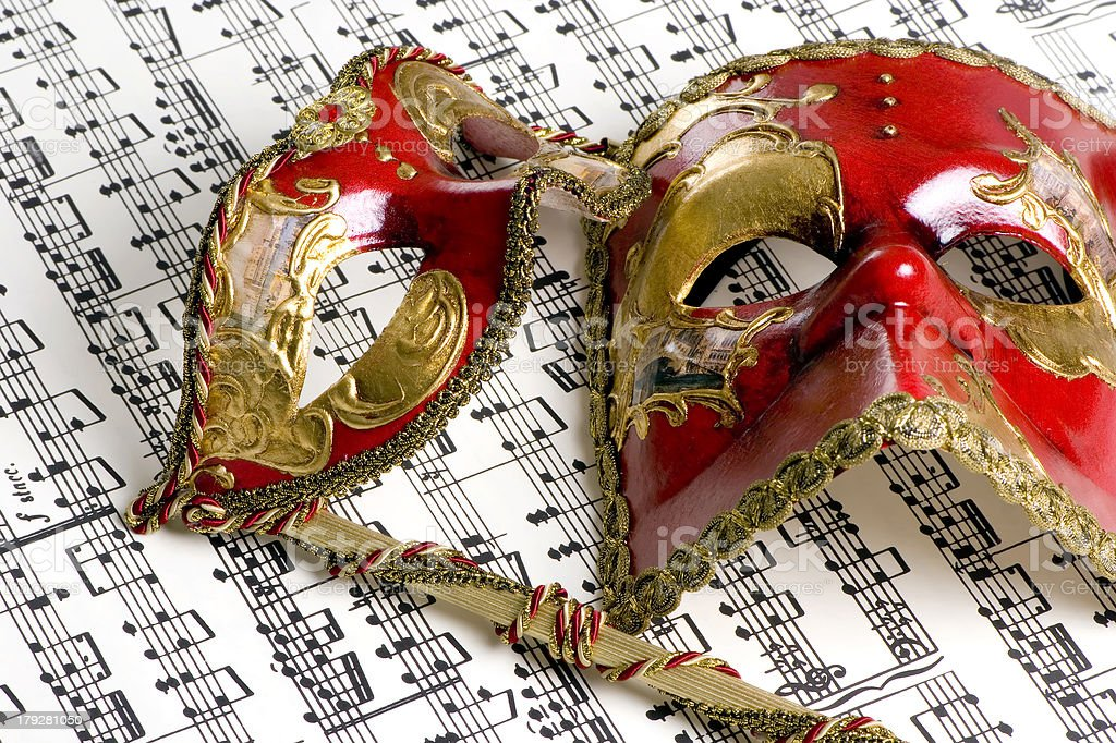 Music Mask 4 stock photo