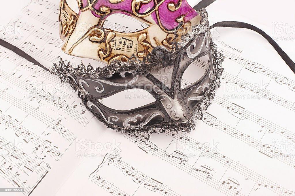 Music Mask stock photo