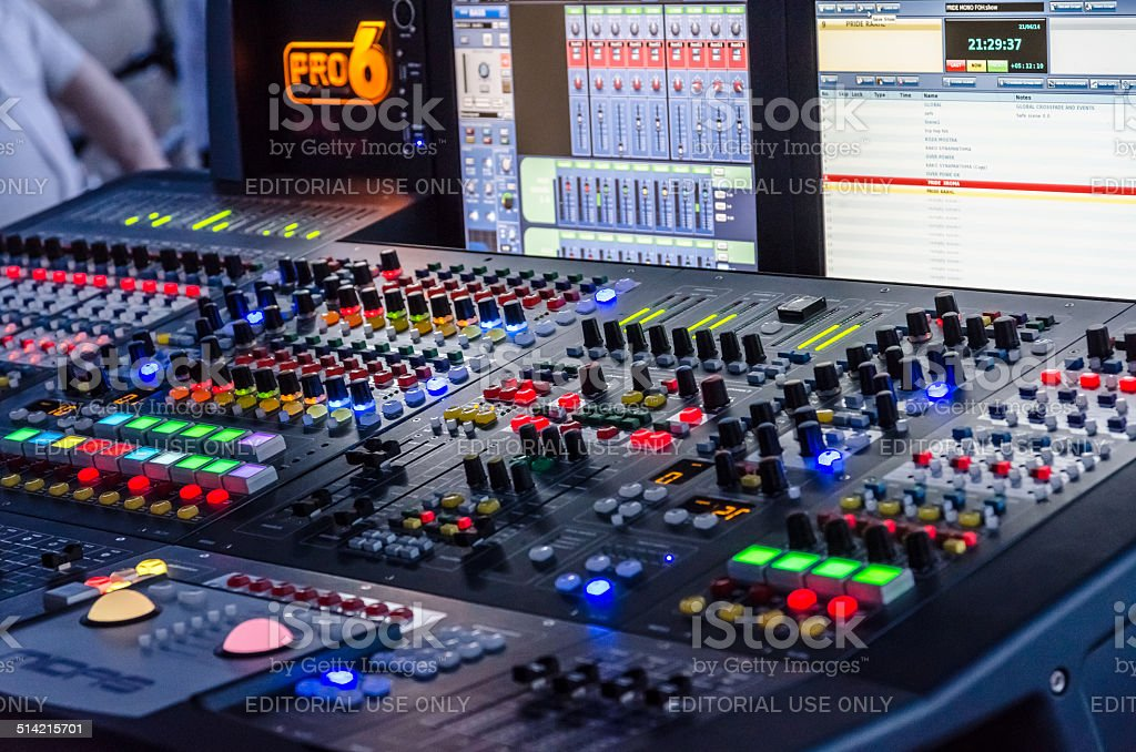 Music mixer. stock photo