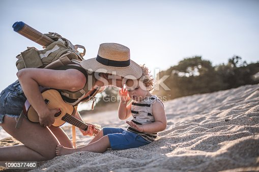 istock Music moments at the beach 1090377460
