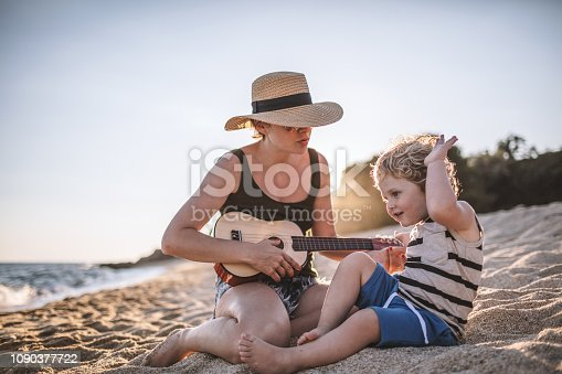 istock Music moments at the beach 1090377722