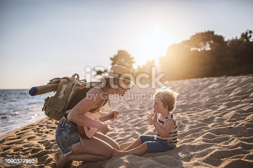 istock Music moments at the beach 1090377952