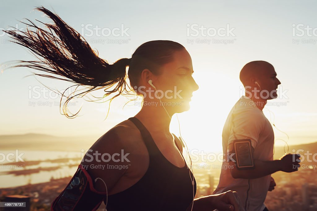 Music motivates us stock photo