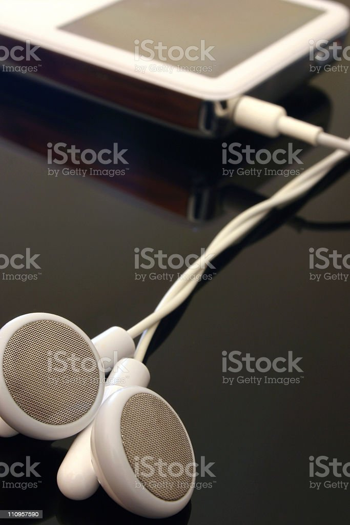 music mp3 player royalty-free stock photo