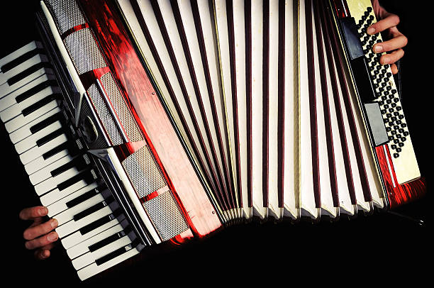 music must go on - accordion stock photos and pictures