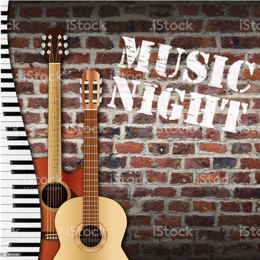 music night stock photo