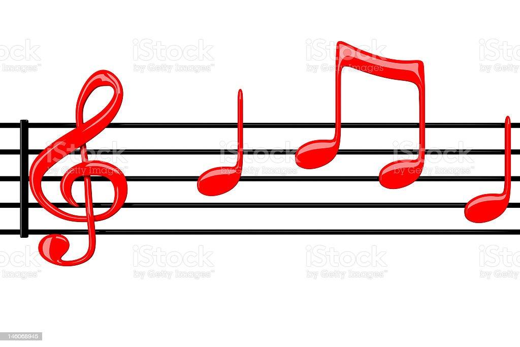 Music notation royalty-free stock photo