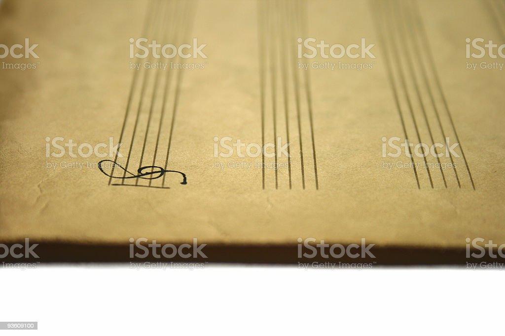 music note key royalty-free stock photo