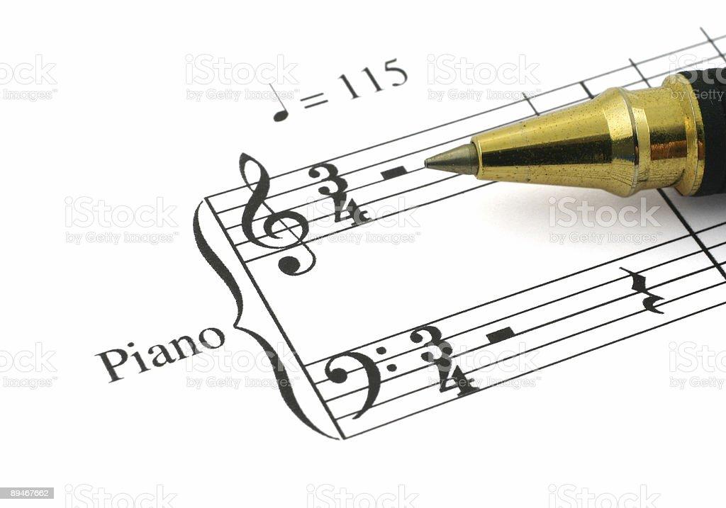 La música Nota foto de stock libre de derechos