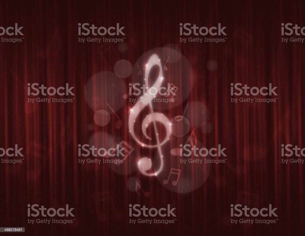 music note red curtain stock photo