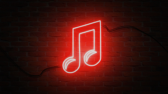 Forma Nota Musicale Luce Red Neon - Fotografie stock e altre immagini di  Aprire una serratura - iStock