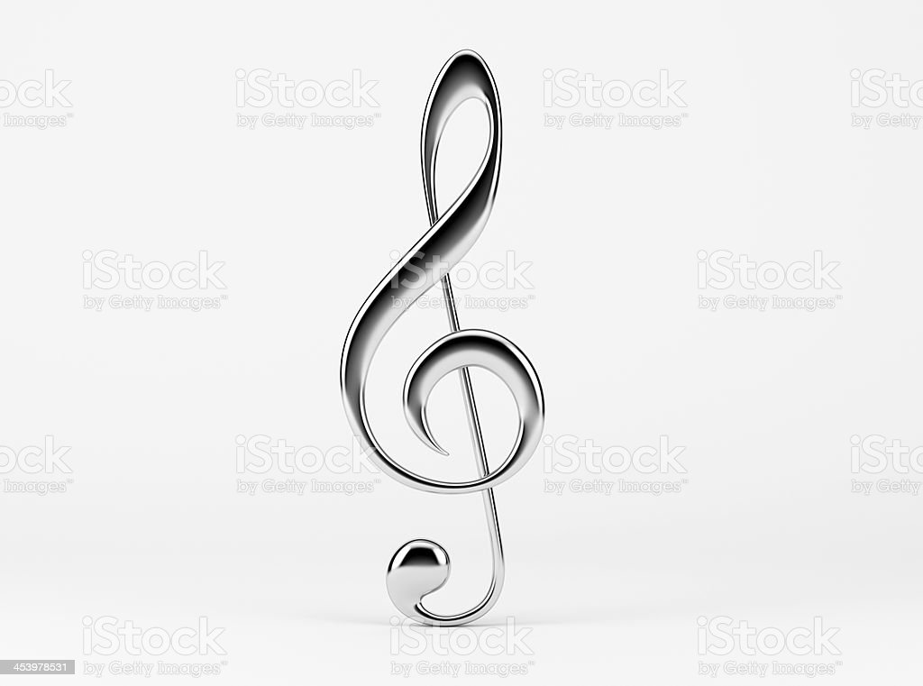Music Note. Treble Clef stock photo