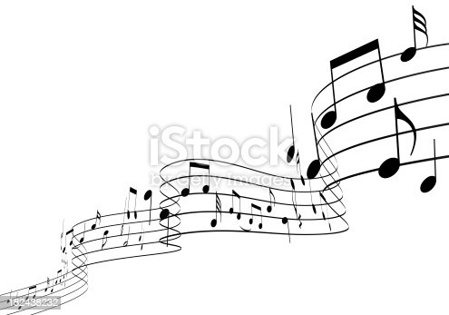 3d Music Notes Dancing Upwards Stock Photo & More Pictures