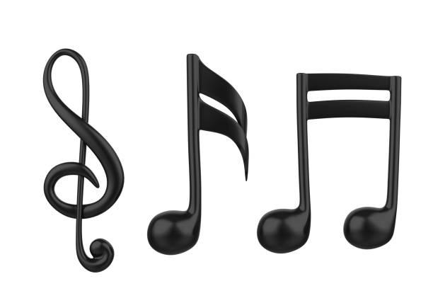 note de musique isolé - note de musique photos et images de collection
