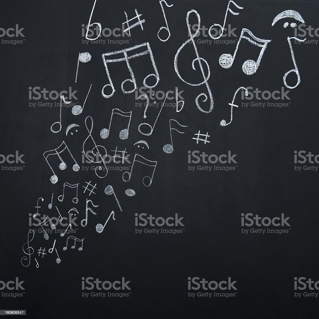 Musik Noten auf Tafel – Foto