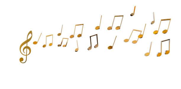 Musiknoten auf weißem Rückengrund. – Foto