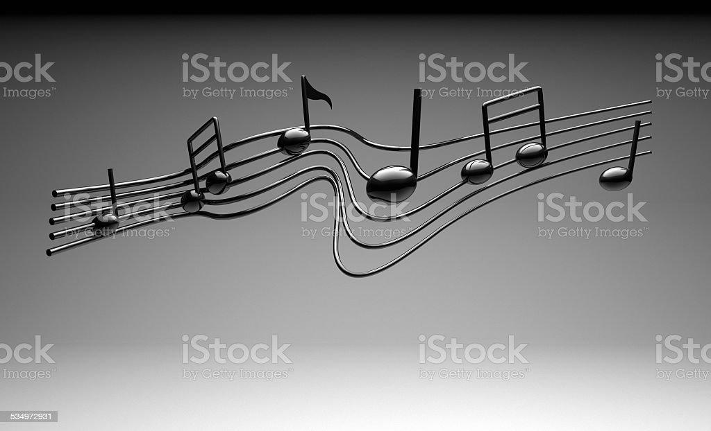 Music Notes on White stock photo