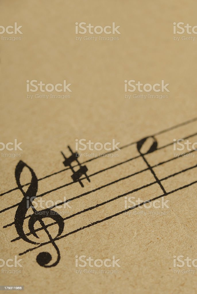music notes royalty-free stock photo
