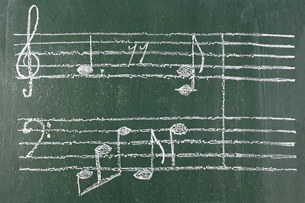 muzyka notatki - pięciolinia zdjęcia i obrazy z banku zdjęć