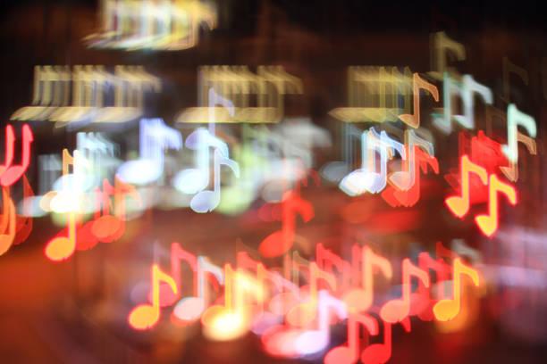notas musicais - desenhos de notas musicais - fotografias e filmes do acervo