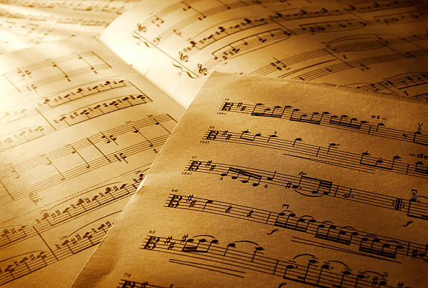 Music notes Music notes sheet music stock pictures, royalty-free photos & images