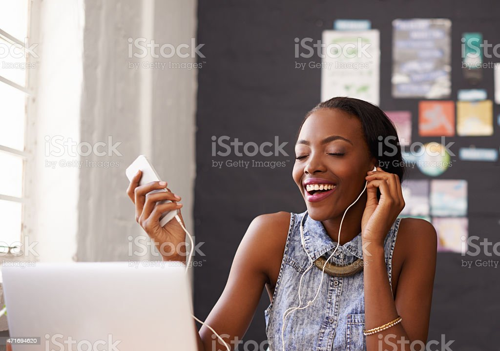 Music nourishes the soul and inspires dreams stock photo