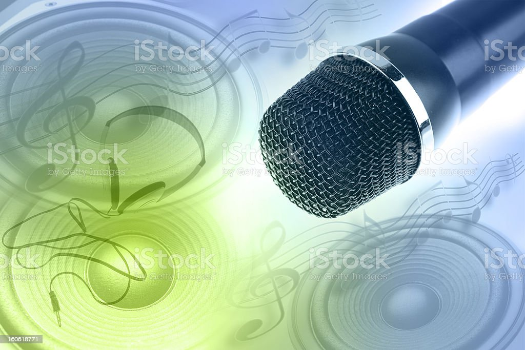 Music objects royalty-free stock photo