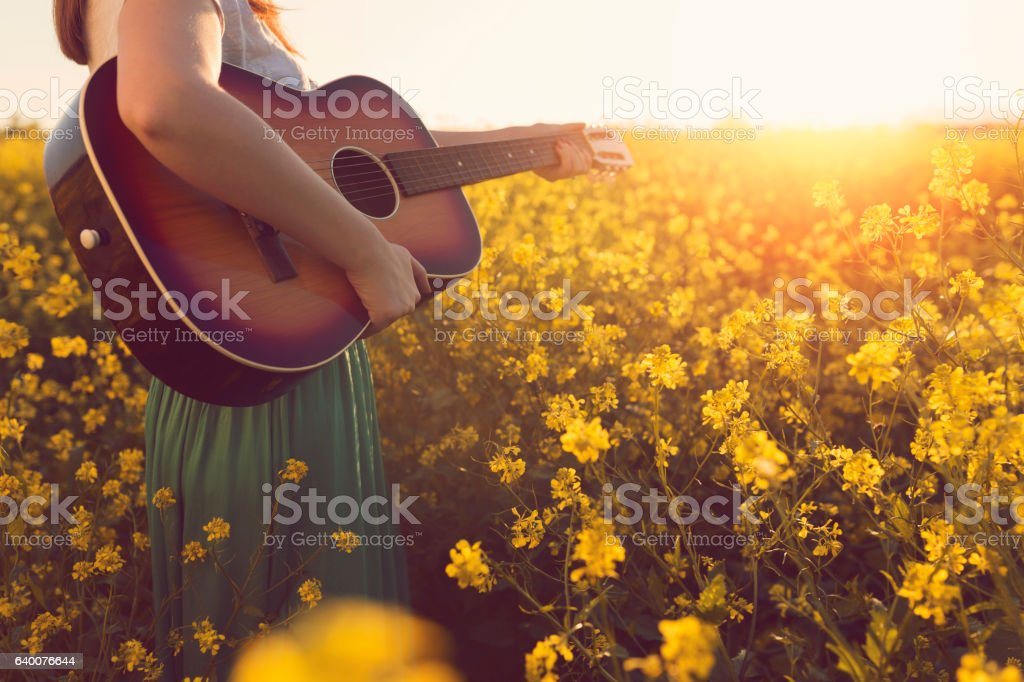 Music of the summer magic stock photo