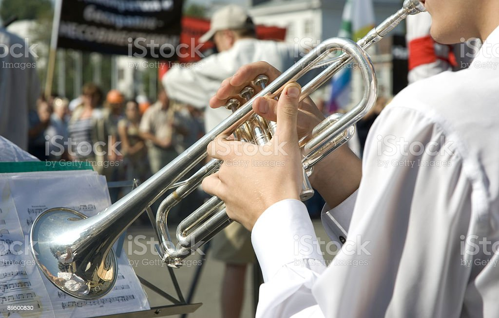 music on demonstration royalty-free stock photo