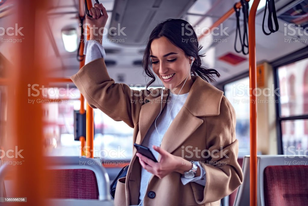 Music on the go stock photo