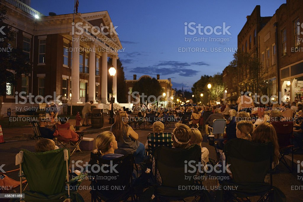Musik im Square in Jonesborough Tennessee – Foto