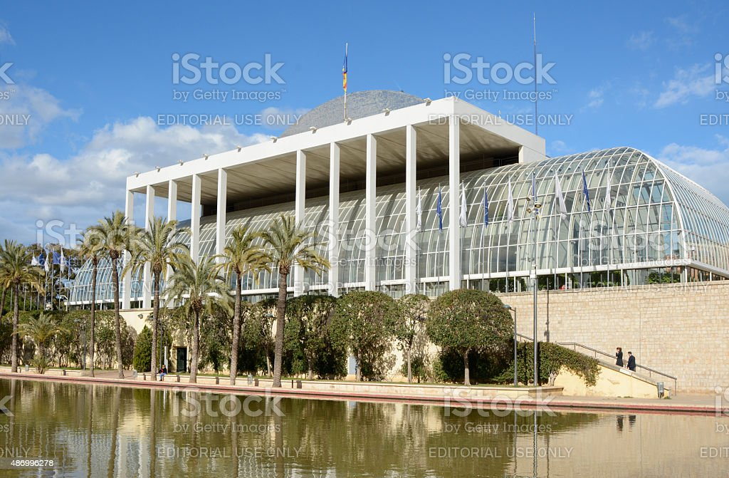 Music Palace in Valencia. Spain stock photo
