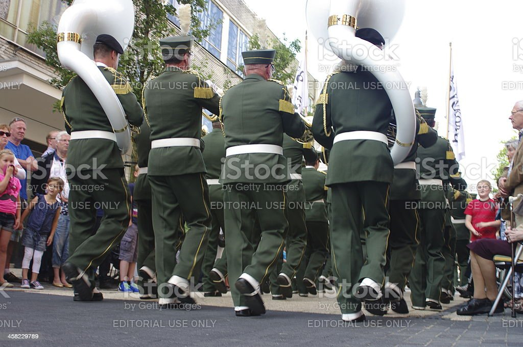 Music parade in Kerkrade royalty-free stock photo