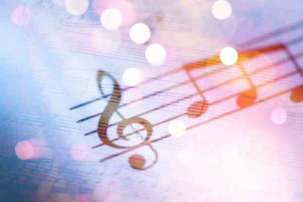 Music. Sheets with music notes musical note stock pictures, royalty-free photos & images