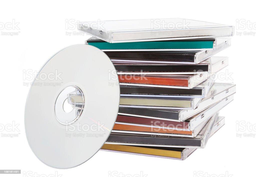 CD music stock photo