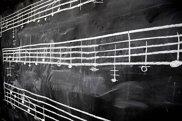 música de - desenhos de notas musicais - fotografias e filmes do acervo