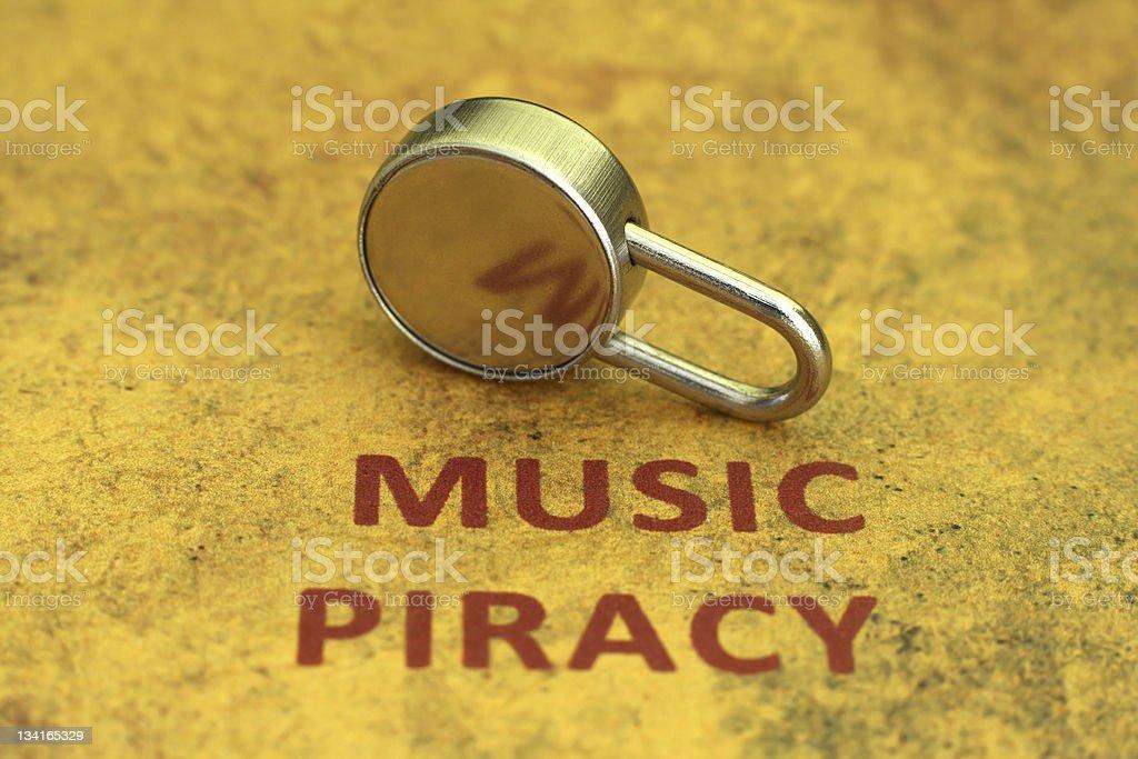Music piracy stock photo