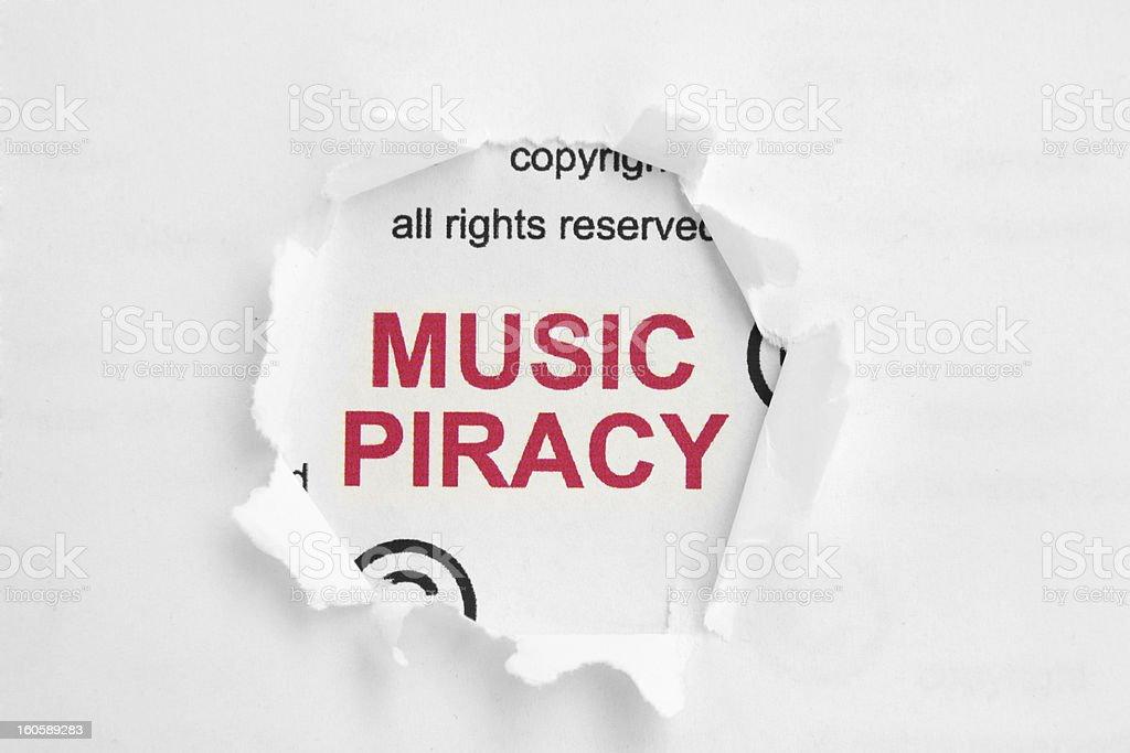 Music piracy royalty-free stock photo