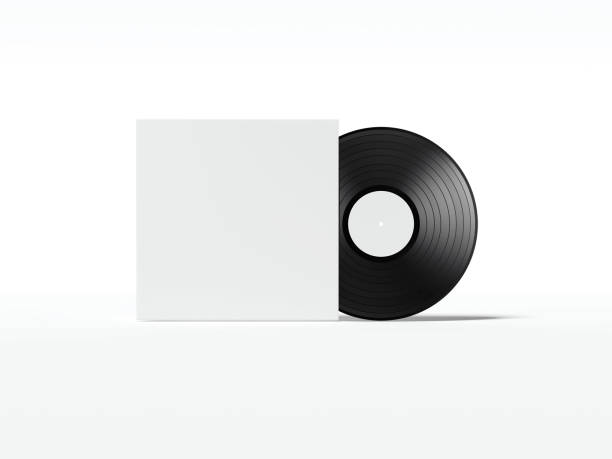 Music plate with white cover package. 3d rendering stock photo