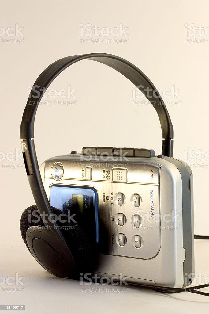 Music player stock photo