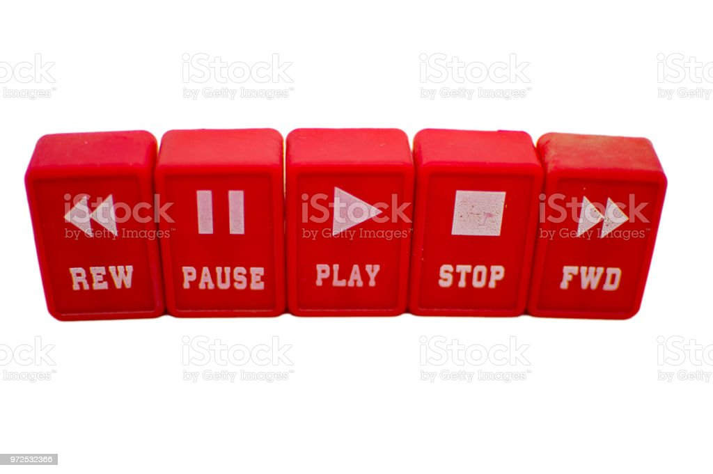Music player symbols for functions and opreations stock photo