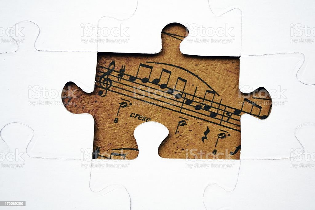Music puzzle royalty-free stock photo