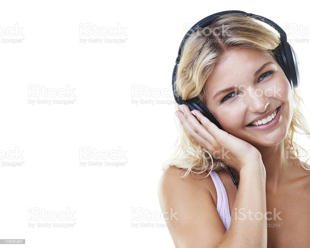 Music relaxes me royalty-free stock photo