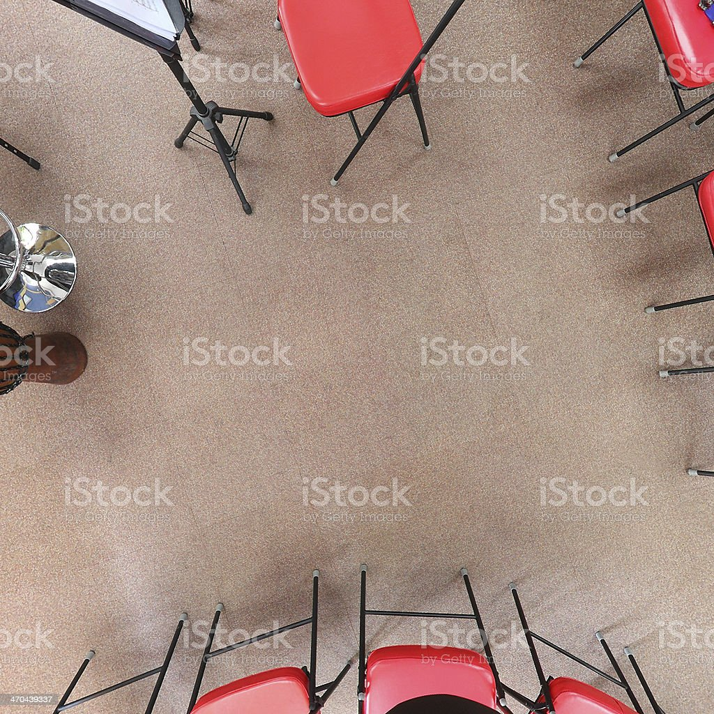Music Room Floor royalty-free stock photo